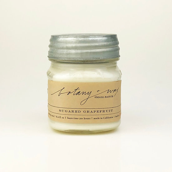 Sugared Grapefruit 8oz Mason Jar Candle