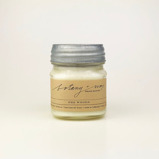 The Woods  I  8oz  I  Mason Soy Candle