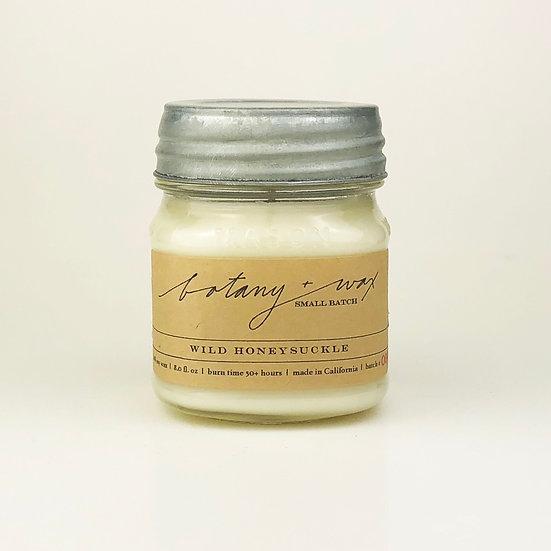 Wild Honeysuckle  8oz Mason Jar Soy Candle