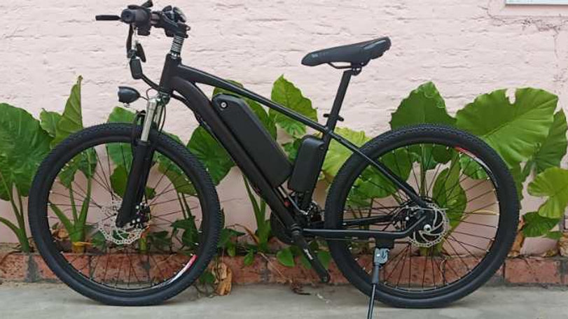 Black Electric Bike