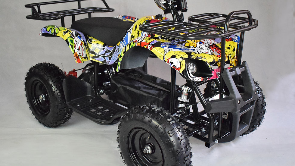 The Land Master 500 - Electric Mini ATV - Camouflage Yellow