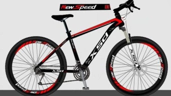 Newspeed Black-Red Electric Bike