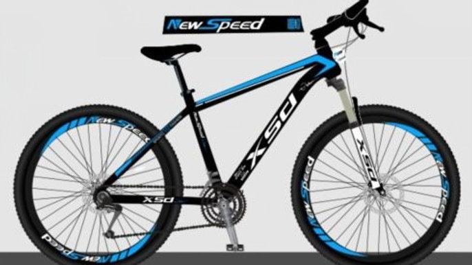Newspeed Black-Blue Electric Bike