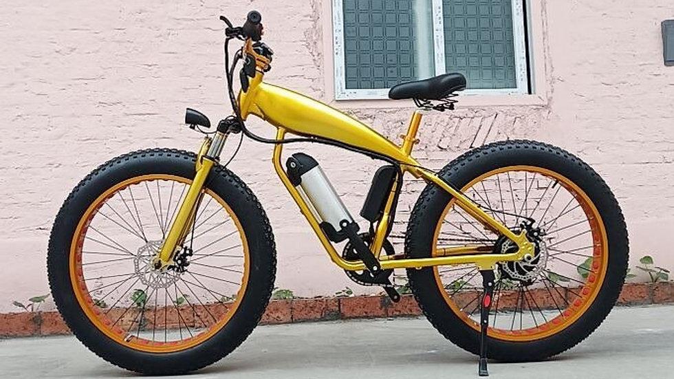 Gold Electric Bike