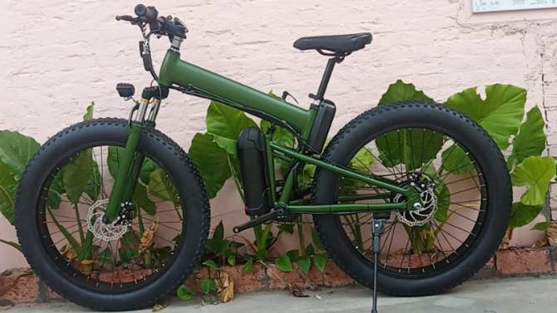 Green Electric Bike