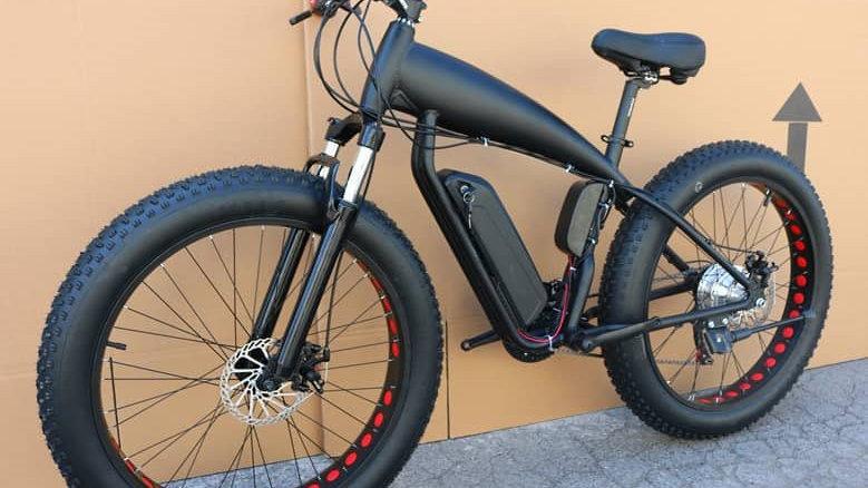 Black-Red Electric Bike