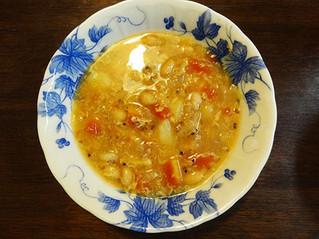 豆とキヌアのスープ
