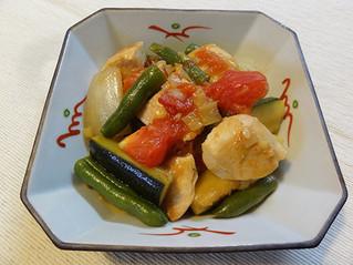 チキンと野菜のネギ生姜炒め