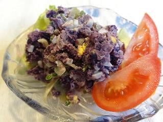 紅芋とゴーヤーのサラダ