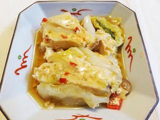 白菜と鶏ひき肉のあんかけ