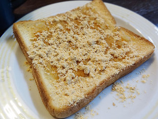 生姜蜂蜜きな粉を食パンに