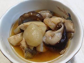 菊芋と鱈の煮物