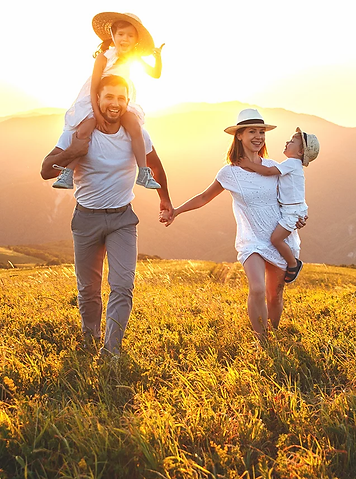 FINANCIAL FREEDOM - Couple in field with
