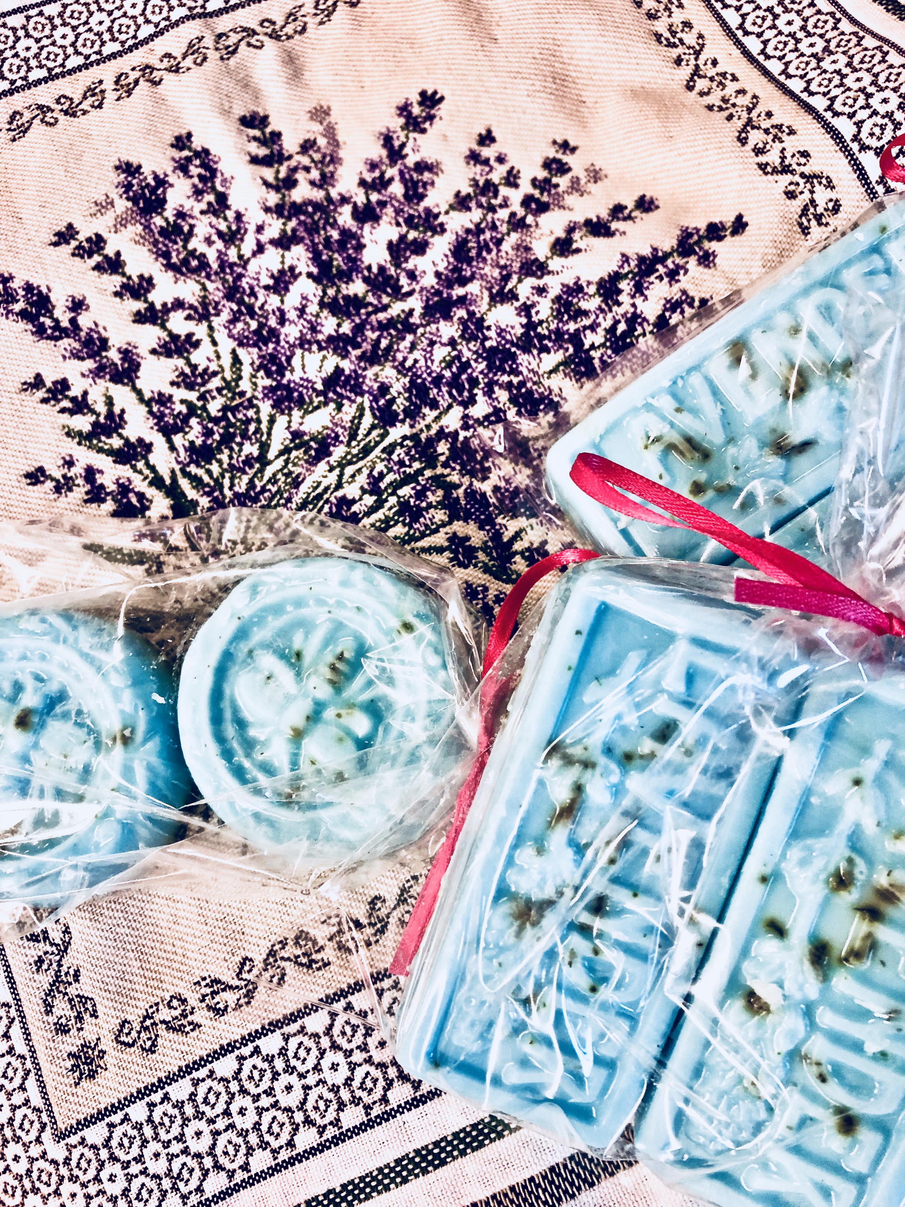 Lavender flower soaps