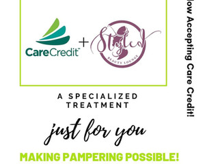 Psst!!! We are now accepting Care Credit!
