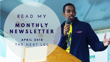 The Next Leg: Your April 2018 Newsletter