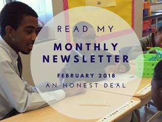 An Honest Deal: Your February 2018 Newsletter