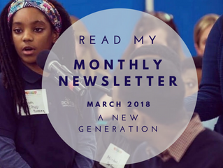 A New Generation: Your March 2018 Newsletter
