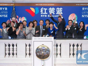Chinese firm RYB Education rings NYSE opening bell to mark its IPO