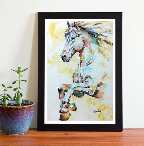 Print, Horse art print, Running horse art, Horse art, Horse print