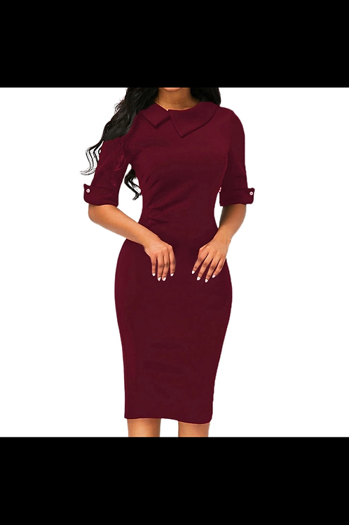"""Handle My Business Doll""(burgundy)"