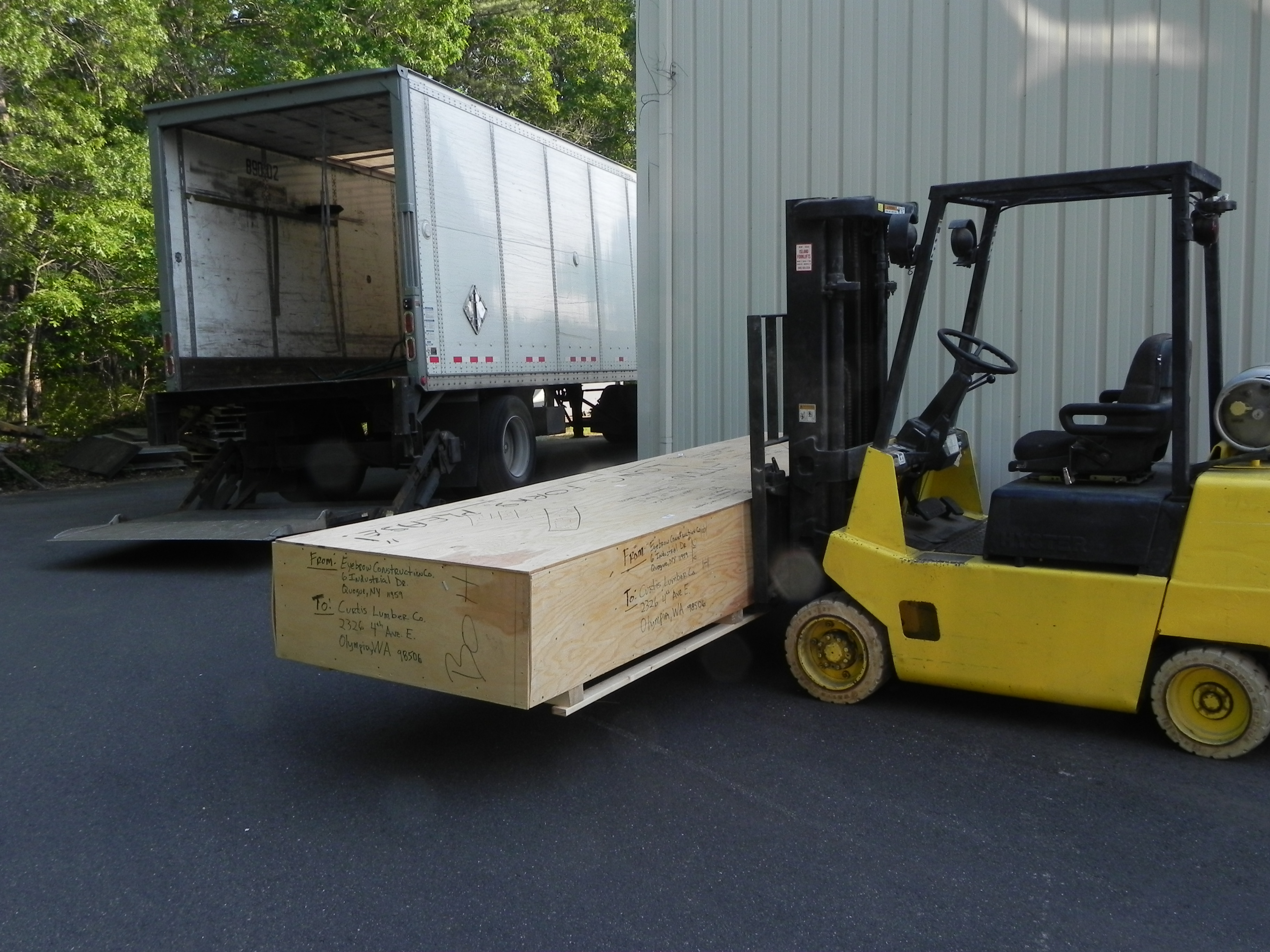 Flat Pack Crate Shipment