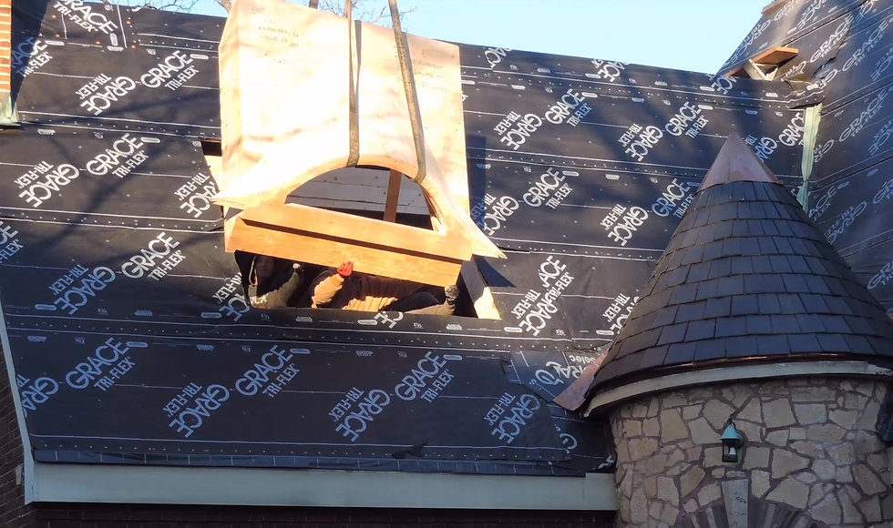 Eyebrow window dormer Installation