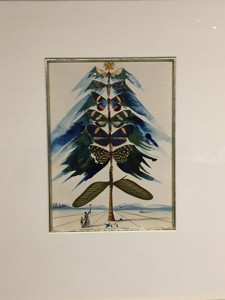 Christmas Tree of Butterflies by Dali