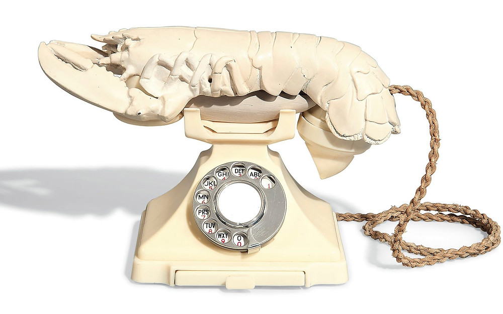 One of 11 lobster telephones done by Salvador Dali in the 1930's.