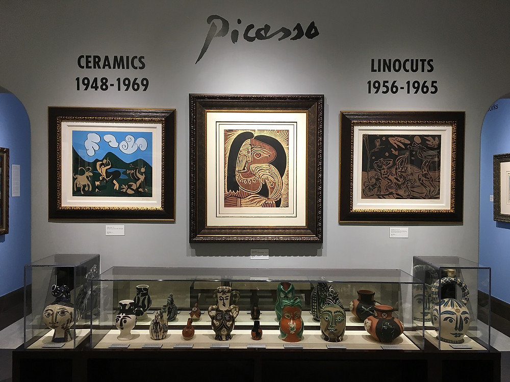 One of the Picasso galleries at Park West Museum. Courtesy Park West Museum