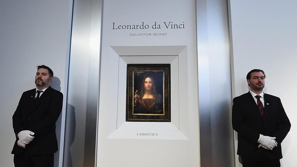 Salvador Mundi on Exhibition at Christies