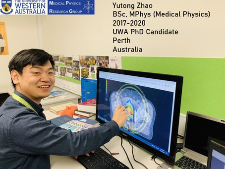 Yutong Zhao: A Brilliant Master Graduate and Our New PhD Candidate at UWA Medical Physics Team