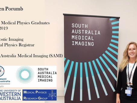 Kirsten Porumb, A Successful UWA Medical Physics Graduate