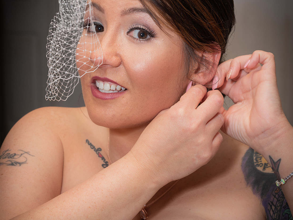 Bride Getting Ready Starbound Photography