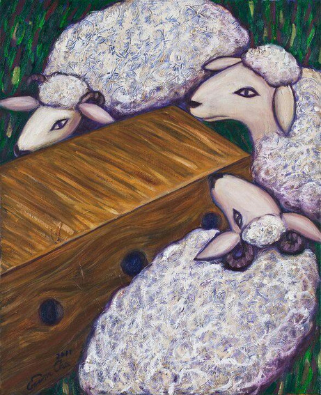 The Perfect Sheep in the Box(완벽한 양이 들어있는 상자)53x65cm, oil on canvas,2011