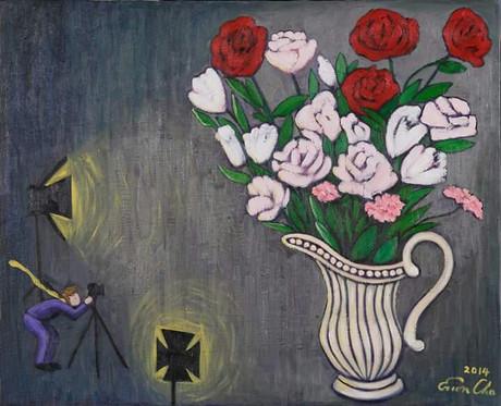꽃병과 큰왕자 (Big Prince and the Vase), 65x53cm, oil on canvas, 2014