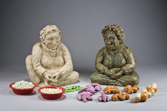 아줌마들, ceramics, 2008