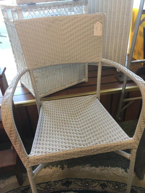 white wicker chair - White Wicker Chair