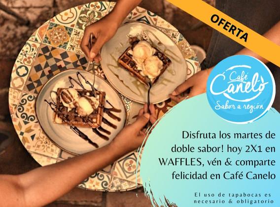 2X1 en WAFFLES con Café Canelo