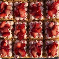 Strawberry Shortcake Blondies