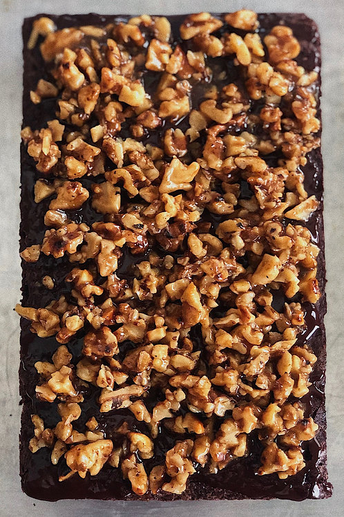HALF: Chocolate & Caramel w/ your choice of nuts