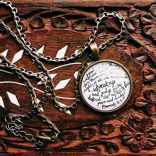 Speak Up- Eden's Signature Verse Pendant