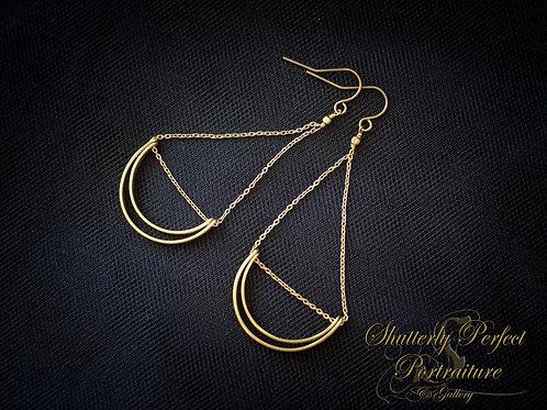 Brass Lunette Earrings