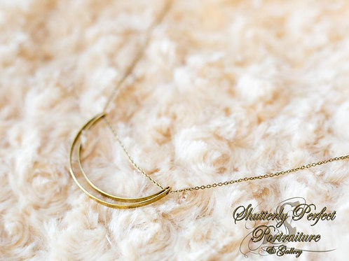 Brass Lunette Necklace