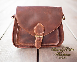 Myra Brown Leather Crossbody