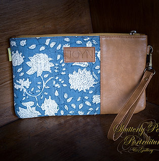 Riya Blue Zinnia Vegan Clutch