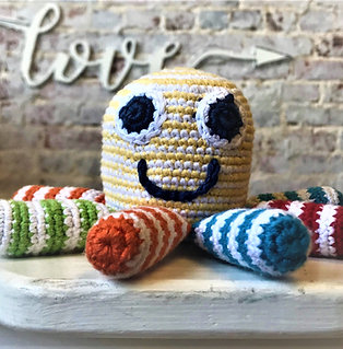 Rainbow Striped Octopus Rattle