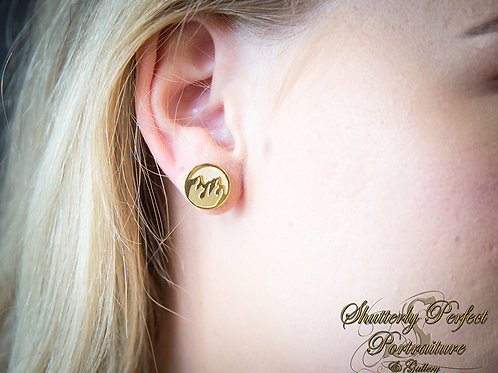 Faith to Move Mountains Stud Earrings