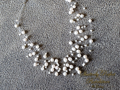 Suspended Pearl Necklace