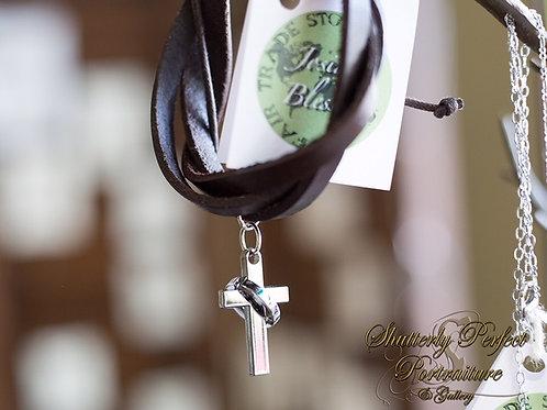 Wrapped In Love Adjustable Cross Bracelet